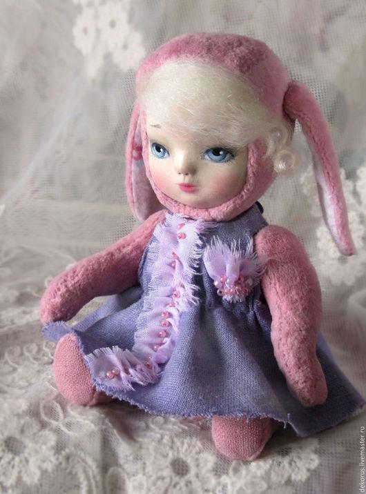 Коллекционные куклы ручной работы. Ярмарка Мастеров - ручная работа. Купить Тедди долл  Аля, которая боится.. Handmade. подарок
