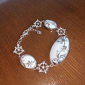 Украшения handmade. Livemaster - original item Bracelet made of natural caholong and 925 sterling silver. Handmade.