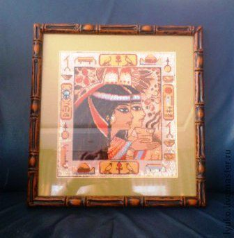 """Люди, ручной работы. Ярмарка Мастеров - ручная работа. Купить Вышивка крестом """"Египетский портрет"""". Handmade. Картина, вышивка ручная"""