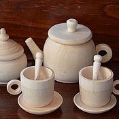 Кукольная еда ручной работы. Ярмарка Мастеров - ручная работа Чайный набор на 2персоны (средний). Handmade.