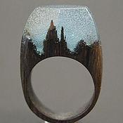 """Украшения ручной работы. Ярмарка Мастеров - ручная работа Деревянное кольцо """"Волшебная  принцесса 21"""", кольцо из дерева. Handmade."""