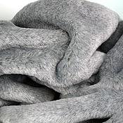 Материалы для творчества ручной работы. Ярмарка Мастеров - ручная работа Мех Серый двухцветный 13 мм. Handmade.