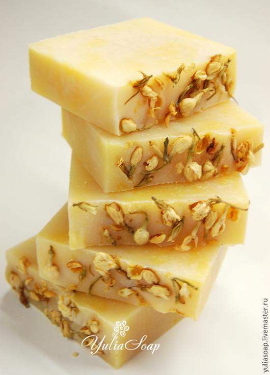 """Мыло ручной работы. Ярмарка Мастеров - ручная работа. Купить Мыло с нуля """"Жасмин"""". Handmade. Желтый, мыло, цветочное мыло"""