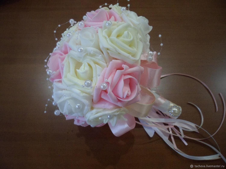 Букет из фоамирана - розовые грезы, Свадебные букеты, Иваново,  Фото №1