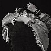 Для дома и интерьера handmade. Livemaster - original item Wool blanket plain gray. Handmade.