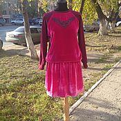 """Одежда ручной работы. Ярмарка Мастеров - ручная работа Свитшот и юбка """"Розовый бархат"""". Handmade."""
