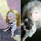 """Куклы и игрушки ручной работы. Ярмарка Мастеров - ручная работа Видео мастер-класс куклы по картине Е. Гапчинской """"Теплый животик"""". Handmade."""