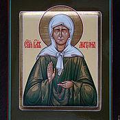 Картины и панно handmade. Livemaster - original item The icon of the Holy Matrona of Moscow (handwritten). Handmade.