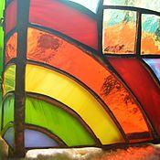 """Для дома и интерьера ручной работы. Ярмарка Мастеров - ручная работа """"Радужный домик"""" витражный светильник. Handmade."""