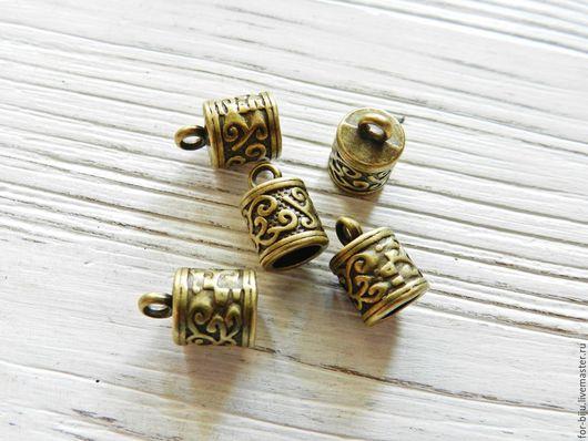 Концевик для шнуров, жгутов цвет Бронза, материал сплав металлов (арт. 2104)
