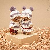 Куклы и игрушки ручной работы. Ярмарка Мастеров - ручная работа Зимние мишки. Handmade.