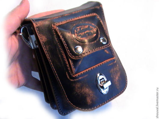 Мужские сумки ручной работы. Ярмарка Мастеров - ручная работа. Купить Поясная сумочка.(Моя !) :)))). Handmade.