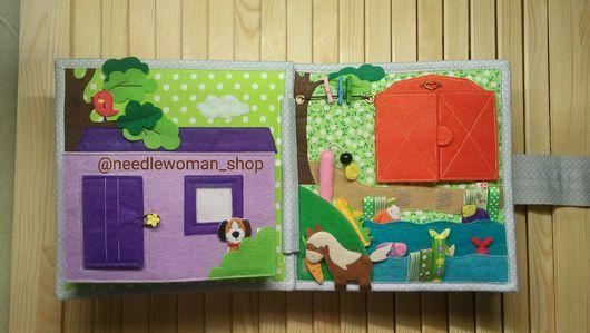 Развивающие игрушки ручной работы. Ярмарка Мастеров - ручная работа. Купить Развивающая книжка #3/PERSONALISED Felt Quiet Book. Handmade.