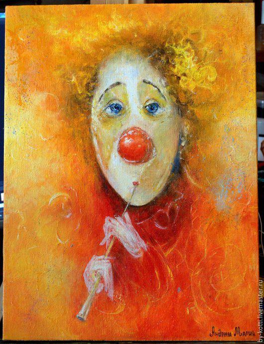 Абстракция ручной работы. Ярмарка Мастеров - ручная работа. Купить Оранжевый клоун. Handmade. Оранжевый, замечательный подарок, рыжий кулон