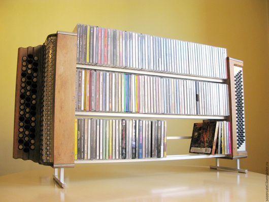 """Винтажные предметы интерьера. Ярмарка Мастеров - ручная работа. Купить подставка для компакт дисков """"Гармошка"""". Handmade. Бежевый, гармошка, гармошка"""