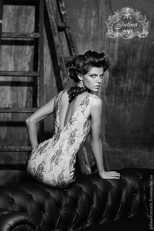 Платья ручной работы. Ярмарка Мастеров - ручная работа. Купить Платье Donna кружево Solstiss и шелк. Handmade. Чёрно-белый