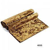 Материалы для творчества ручной работы. Ярмарка Мастеров - ручная работа Плюш винтажный  тёмное золото 50х50см 100% п/э. Handmade.