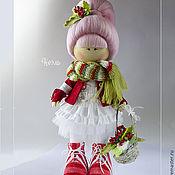 Куклы и игрушки ручной работы. Ярмарка Мастеров - ручная работа Рождество. Кукла текстильная. Игрушка девочка. Ноэль. Handmade.
