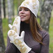 Аксессуары handmade. Livemaster - original item Set hat mitten