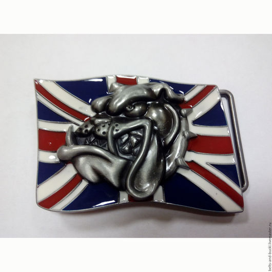 Пояса, ремни ручной работы. Ярмарка Мастеров - ручная работа. Купить Пряжка Британский флаг с 3D бульдогом. Handmade. Пряжка