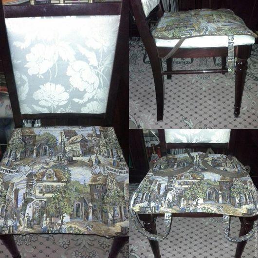 """Кухня ручной работы. Ярмарка Мастеров - ручная работа. Купить Сидушки на стулья из гобелена """"Антверпен"""". Handmade. Сидушка на стул, для кухни"""