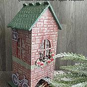 Для дома и интерьера ручной работы. Ярмарка Мастеров - ручная работа чайный домик для пакетиков Розы хранение чая декупаж. Handmade.