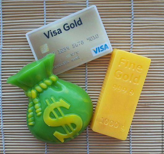 """Мыло ручной работы. Ярмарка Мастеров - ручная работа. Купить Мыло """" денежное """". Handmade. Комбинированный, мыло золото"""