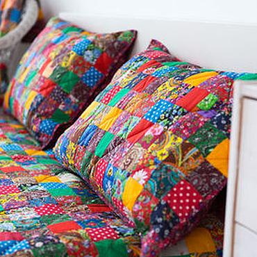 Для дома и интерьера handmade. Livemaster - original item Patchwork pillow case. Handmade.