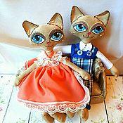 Куклы и игрушки ручной работы. Ярмарка Мастеров - ручная работа Серия ароматные куклы #6 - влюбленная пара котов. Handmade.