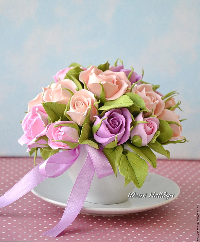 Розы из полимерной глины купить в москве цветы полевые для клумбы купить