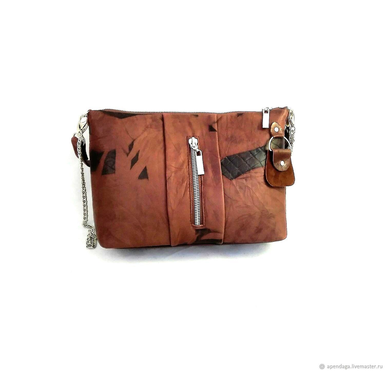 """Сумка кожаная коричневая """"Каштан"""",сумка рыжая, Сумка через плечо, Ульяновск,  Фото №1"""