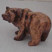 """Для дома и интерьера ручной работы. Ярмарка Мастеров - ручная работа Художественная керамика.Скульптура  """"Медведь"""". Handmade."""