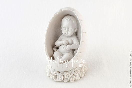 Материалы для косметики ручной работы. Ярмарка Мастеров - ручная работа. Купить Силиконовая форма для мыла Малыш в яйце. Handmade.