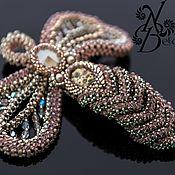 Украшения handmade. Livemaster - original item Dragonfly brooch with many small faceted Swarovski beads. Handmade.
