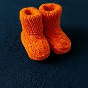 """Работы для детей, ручной работы. Ярмарка Мастеров - ручная работа Детские носочки """"Рыжик"""". Handmade."""