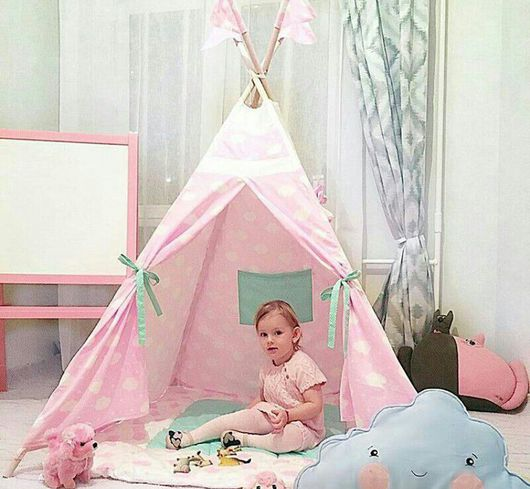 Детская ручной работы. Ярмарка Мастеров - ручная работа. Купить Детский вигвам. Шалаш. Палатка. Вигвам для детей.. Handmade. Шебби