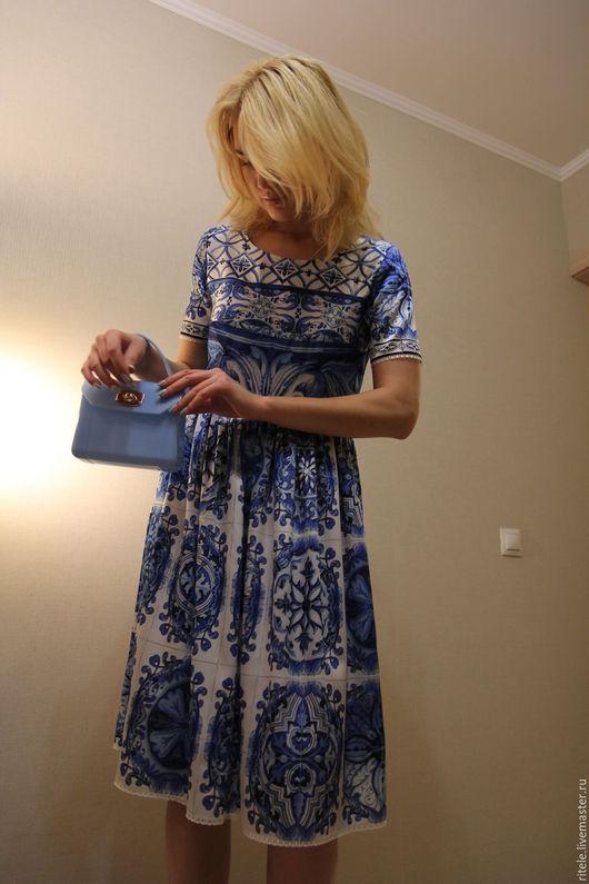 """Платья ручной работы. Ярмарка Мастеров - ручная работа. Купить Платье """"Majolica"""". Handmade. Вечернее платье, платье коктейльное"""