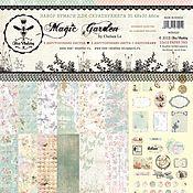 Бумага ручной работы. Ярмарка Мастеров - ручная работа Набор двусторонней бумаги MAGIC GARDEN 30,48 х 30,48см 6 листов + 2. Handmade.