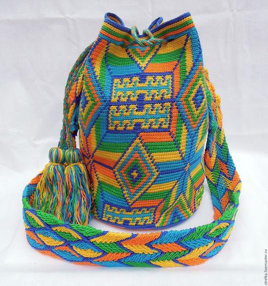 Женские сумки ручной работы. Ярмарка Мастеров - ручная работа. Купить Колумбийская мочила  (Mochila). Handmade. Колумбийская мочила, кумихимо