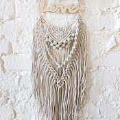 """Панно ручной работы. Ярмарка Мастеров - ручная работа Ловец снов """"Love"""".. Handmade."""