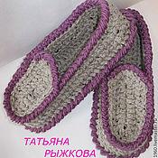 Обувь ручной работы. Ярмарка Мастеров - ручная работа Тапочки домашние вязаные. Handmade.