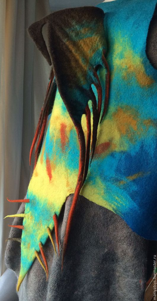 """Жилеты ручной работы. Ярмарка Мастеров - ручная работа. Купить Жилет из шерсти """"Громгильда"""" детский. Handmade. Комбинированный, карнавальный костюм"""
