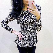 Blouses handmade. Livemaster - original item Long sleeve peplum blouse. Handmade.
