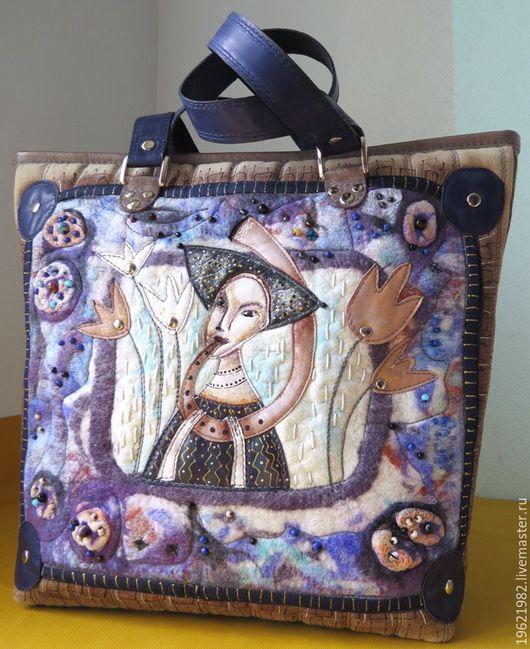 Женские сумки ручной работы. Ярмарка Мастеров - ручная работа. Купить сумка Музыка из Каркассона. Handmade. Синий, оригинальная сумка