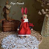 """Куклы и игрушки ручной работы. Ярмарка Мастеров - ручная работа Зайка """"Ушки вверх"""". Handmade."""