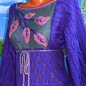 Одежда handmade. Livemaster - original item Tunic dress. Waltz of falling leaves.. Handmade.