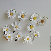 handmade. Livemaster - original item Clip and clips for hair with chamomile. Handmade.