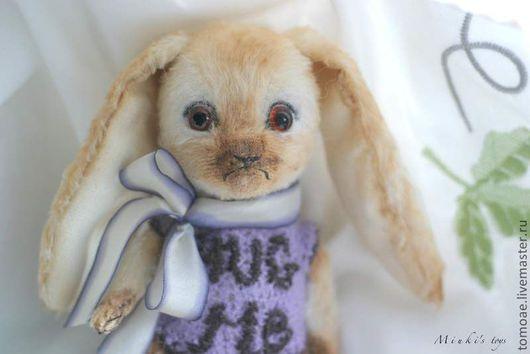 Мишки Тедди ручной работы. Ярмарка Мастеров - ручная работа. Купить Зайка Hug me. Handmade. Белый, зайчик