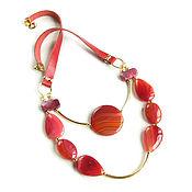 Украшения handmade. Livemaster - original item Red necklace with agates