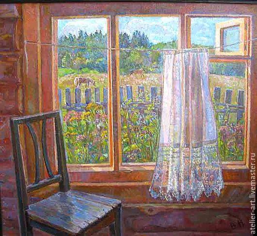 `Окно в поле`- живописная картина с натуры; холст, масло.